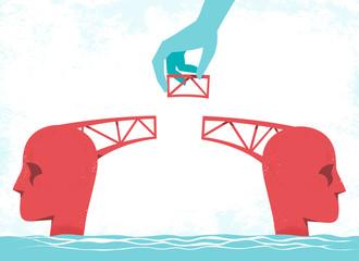 Ponte che collega le persone