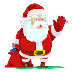 Santa Waving Hand
