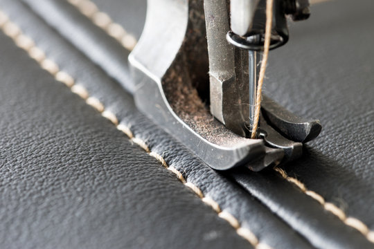 Nähmaschine / Leder nähen mit einer Nähmaschine