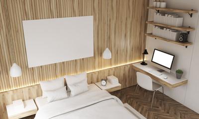 Top view of bedroom