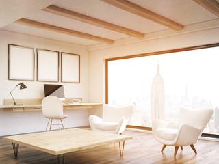 Home office in a New York falt