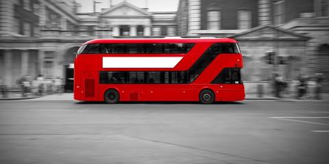 Photo sur Aluminium Londres bus rouge Bus Londonien .
