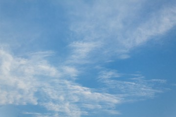 Blue sky and Cloud ,The vast blue sky and Soft Cloud