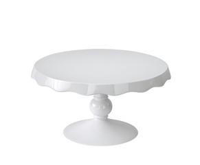 Porcelain cake stand on white