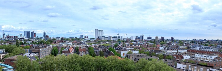 Rotterdam central area skyline