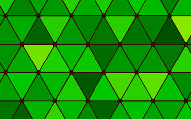 Abstract background with green triangles