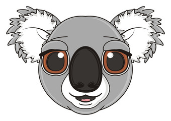 muzzle, snout, face, head, cartoon, gray, animal, bear, koala, australia, zoo, nature, wild, marsupial, toy,