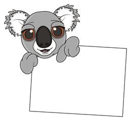 cartoon, gray, animal, bear, koala, australia, zoo, nature, wild, marsupial, toy, peek up, face, muzzle, paper, clean