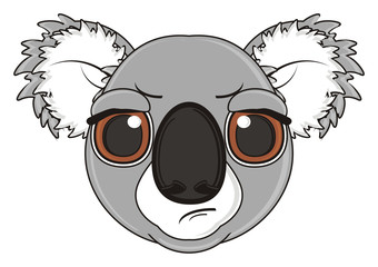 cartoon, gray, animal, bear, koala, australia, zoo, nature, wild, marsupial, toy, face, muzzle, evil, angry