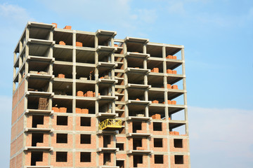 Building construction site. Building construction site image.