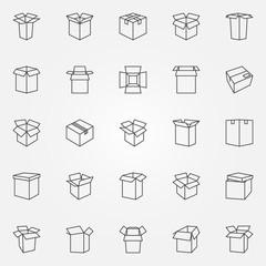 Box icons set