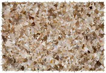 Beige and brown abstract polygonal background texture
