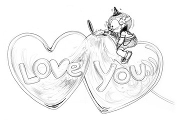 Siam Gumphant Thai Giant Cartoon Love fills the heart
