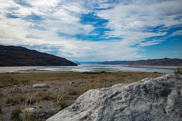 Der Himmel und die Landschaft von Grönland, Kangerlussuaq