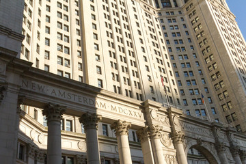 Neoclassical Municipal Building in New York City.