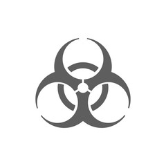 Biohazard icon illustration