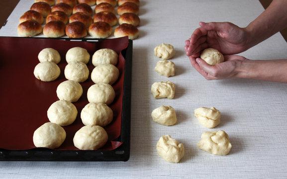 Preparation of yeast rolls