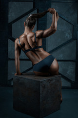 Back bodybuilder girl.