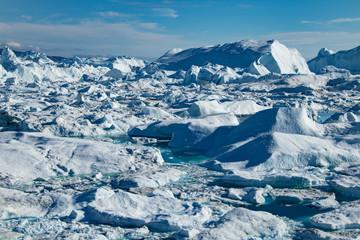 Icefjord Ilulissat at the Glacier Sermeq Kujalleq, Greenland