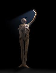 Skeleton makes selfie