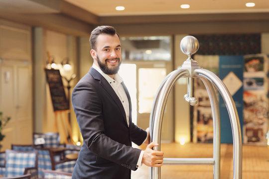 Bellboy in hotel