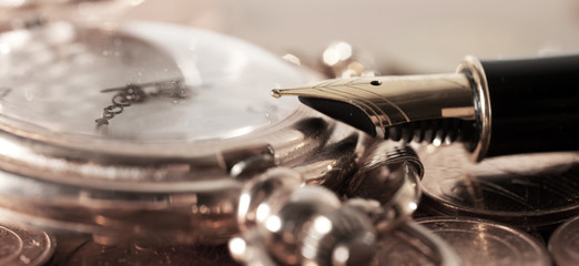 Pen and pocket watch