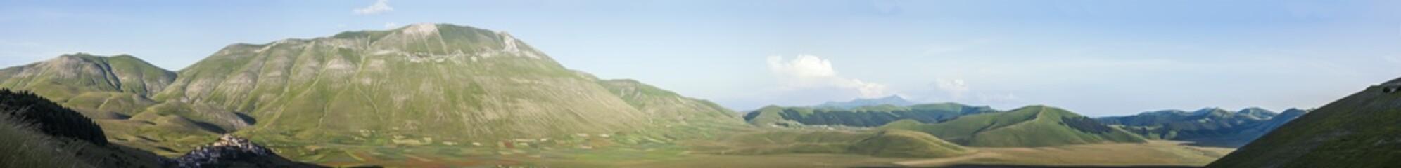 Vista panoramica della valle di Castelluccio di Norcia