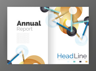 Lines and circles, modern abstract business annual report template