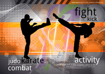 Martial arts, vector