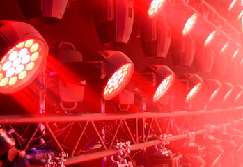 Stage lighting equipment.