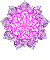 Vector Beautiful Handdrawn Mandala, Patterned Design Element