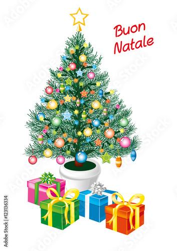 Immagini Natalizie Vettoriali.Albero Di Natale Auguri Immagini E Vettoriali Royalty Free Su