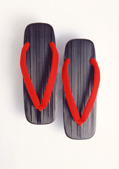 A pair of Japanese sandals