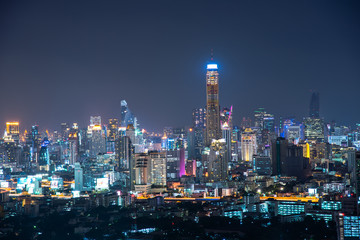 Bangkok night on roof top