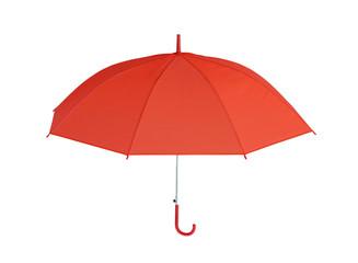 Red Umbrella isolated on white background.