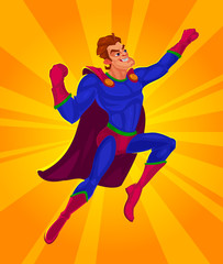 Vector illustration of a superman
