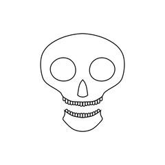 Halloween skull icon. Outline illustration of scull vector icon for web design