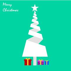Christmas tree vector illustration, Merry Christmas