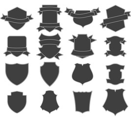 Set of shields logo