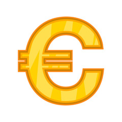 Euro icon. Cartoon illustration of euro vector icon for web design