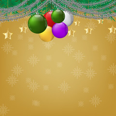 Christmas with gold background