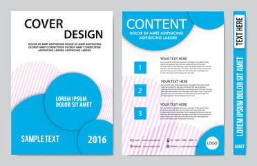 Cover book presentation design template background