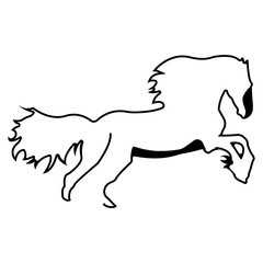 Vector logo horse. Brand color silhouette icon.