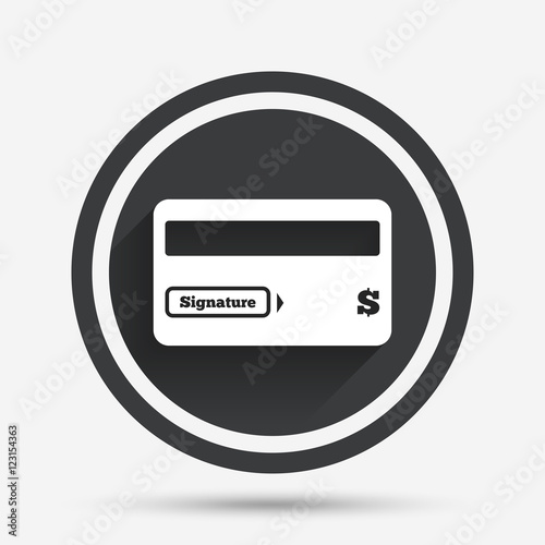 Credit Card Sign Icon Debit Card Symbol Stock Image And Royalty
