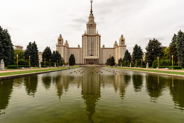 Moscow State University building in Moscow, Russia