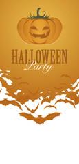 Pumpkin Halloween Party Flyer Invitation