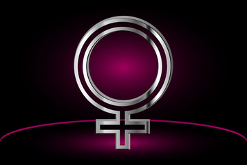 Female symbol, woman