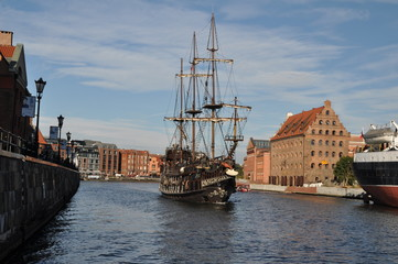 Pirate's Sailing Ship in Gdansk, Poland