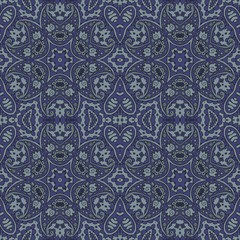 Male ethnic seamless vector pattern in grey tones.