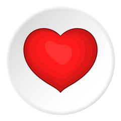 Heart icon. Cartoon illustration of heart vector icon for web